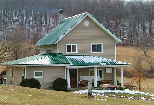 green-metal-roof