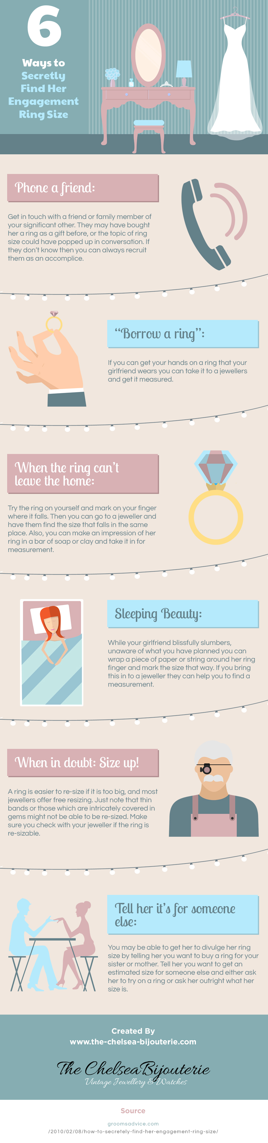 6 Ways to Secretly Find Her Engagement Ring Size