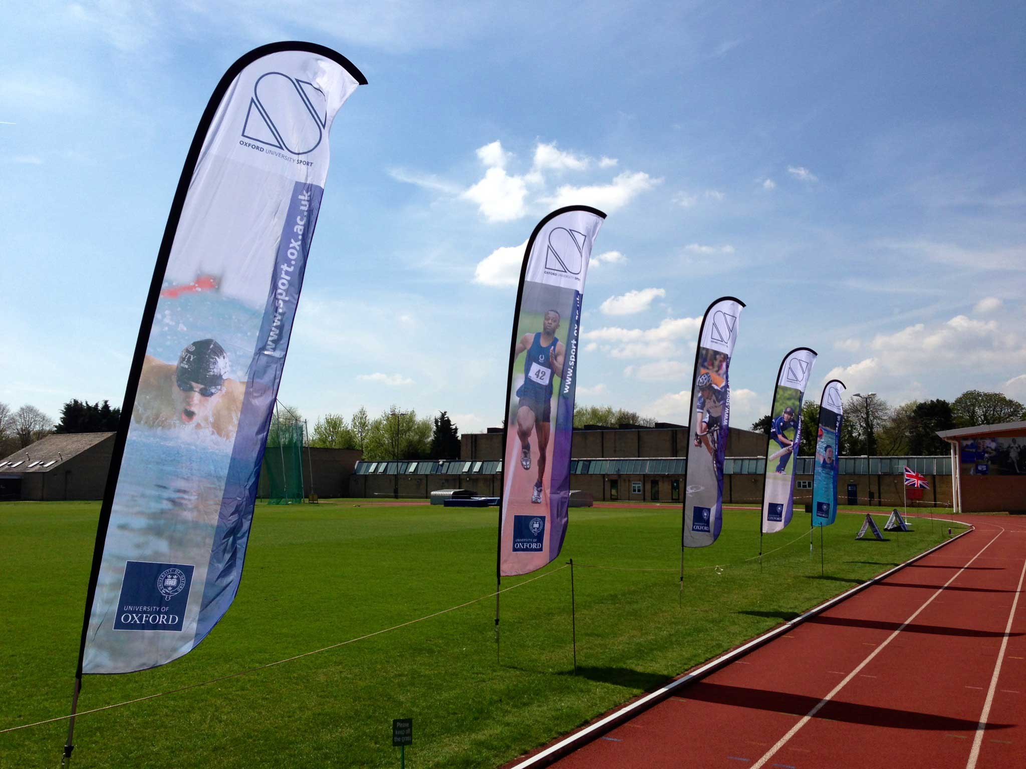 Promotional Flying Flags Will Instantly Catch Trade Show Visitor Attention!