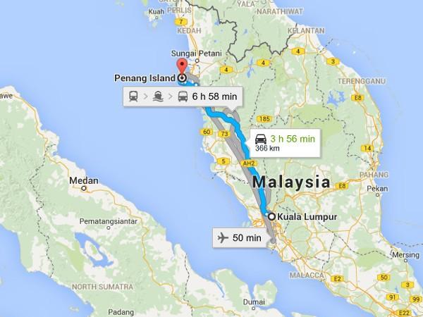 Travel Guide For Kaula Lumpur To Penang, Malaysia