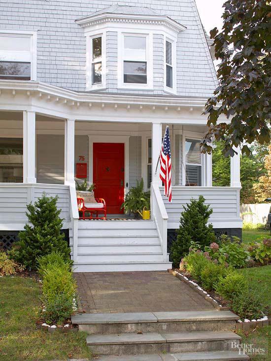 red-front-door-colors-via-better-homes-gardens