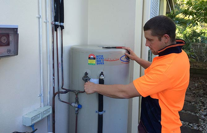 hot water service,